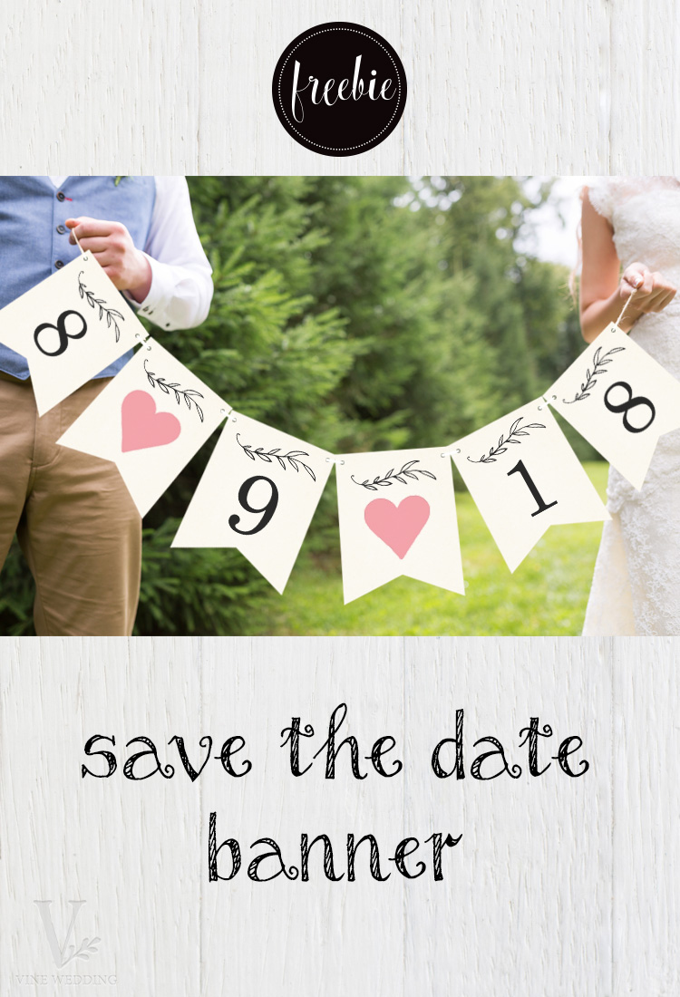 Free Printable Save the Date Banner