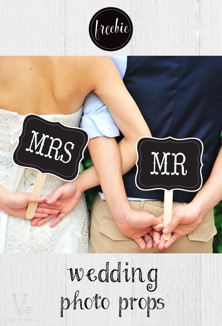 Mr & Mrs Photo Props