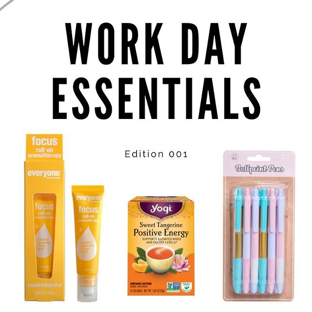 NEW BLOG! It's always fun to highlight (get it 🤪) the products that help us get through the #WorkDay. We'll share a weekly update of our must-haves on the blog. Link in bio!
