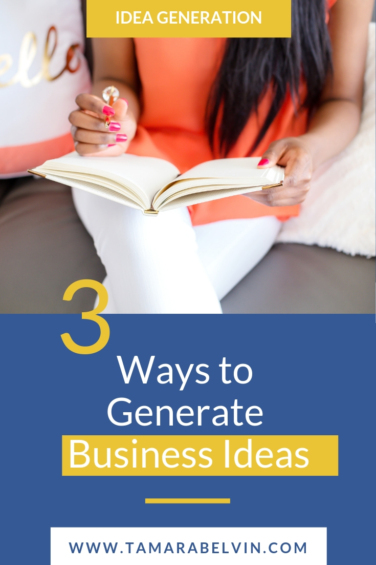 Business Ideas, Idea Generation, Tamara Belvin