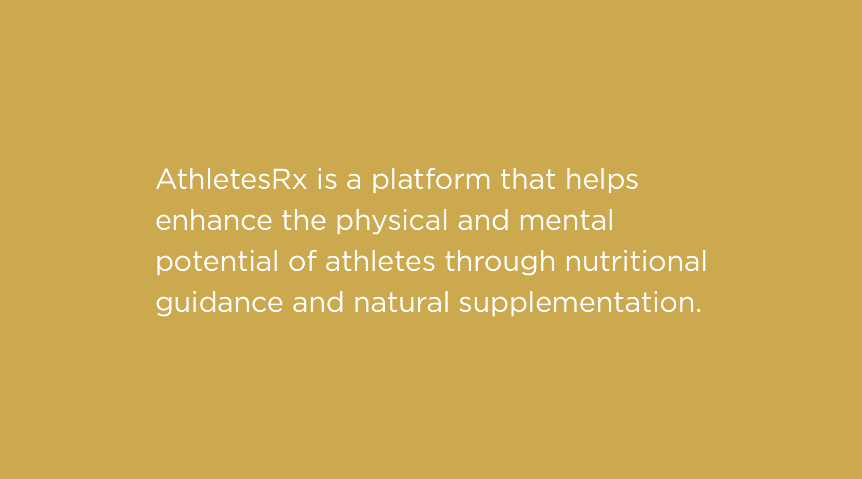 AthletesRx brand positioning