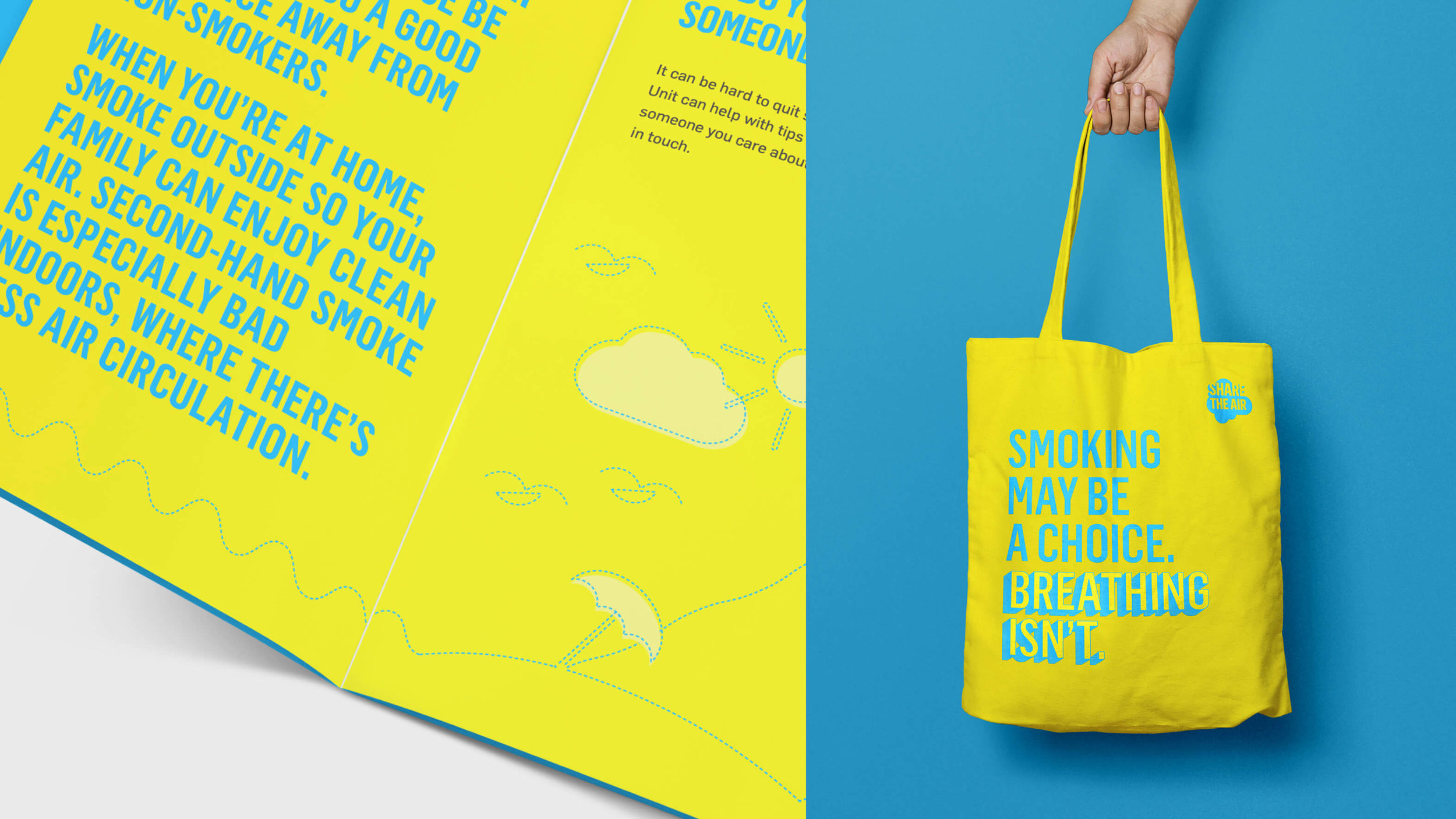 Share the Air print and tote bag