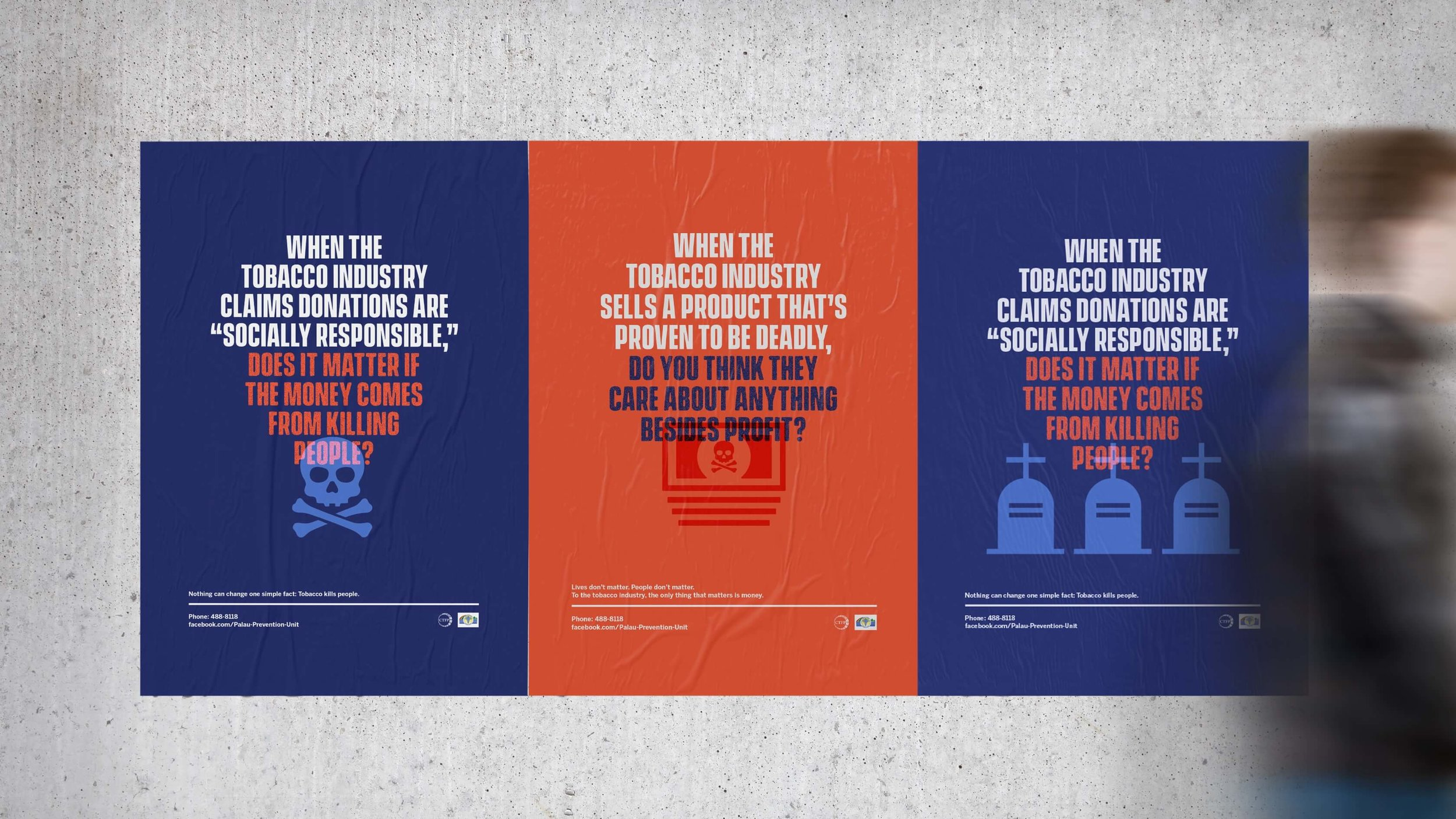 Palau Ministry of Health tobacco industry interference campaign posters