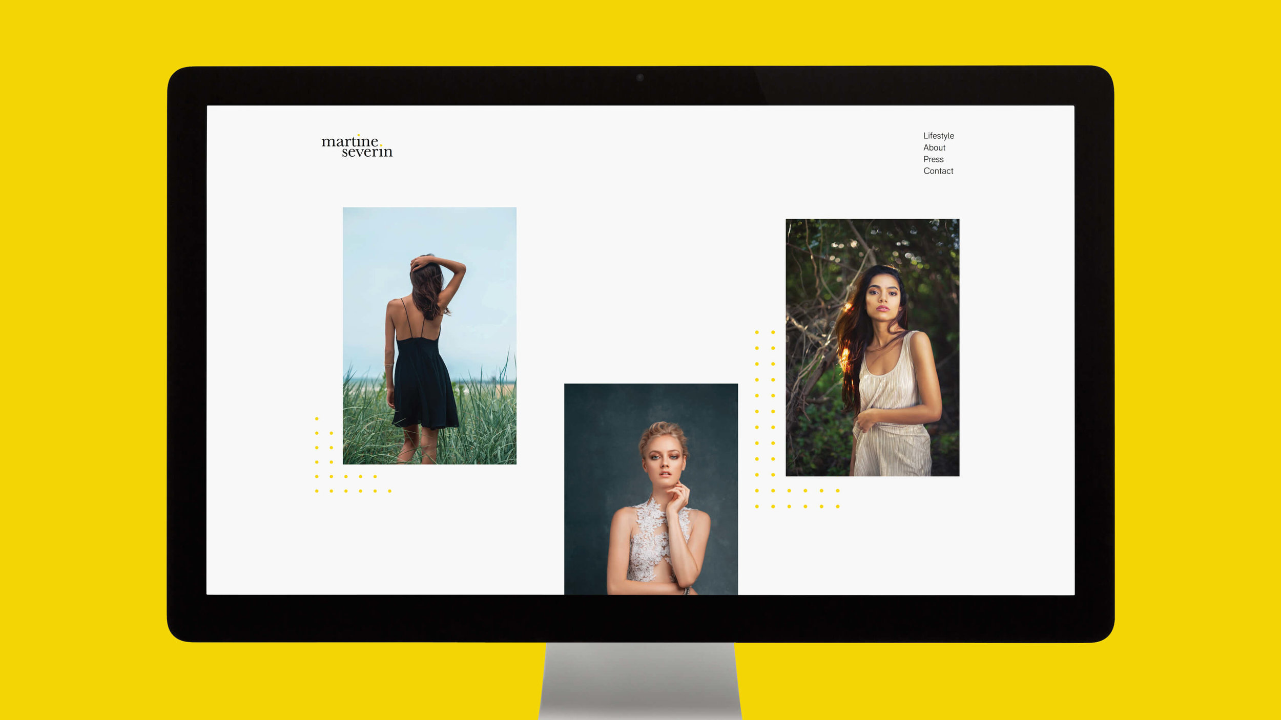 Martine Severin website mock-up