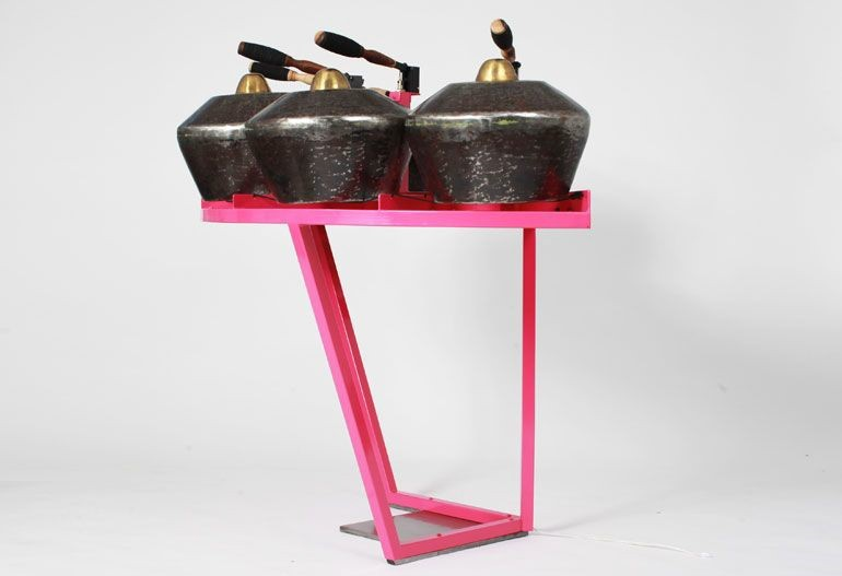 Gamelatron Pink Besi Nong (Indoensian: Iron Kenong styled gong)