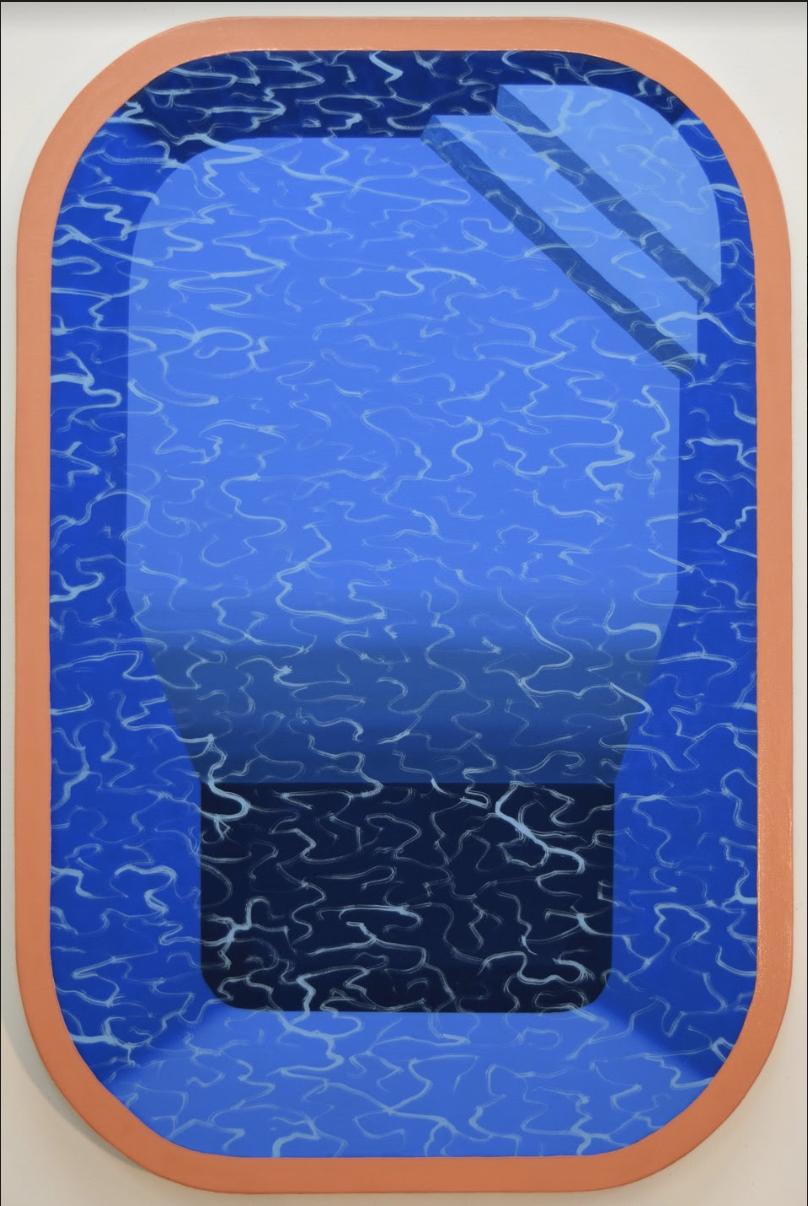 Pool with Orange Border