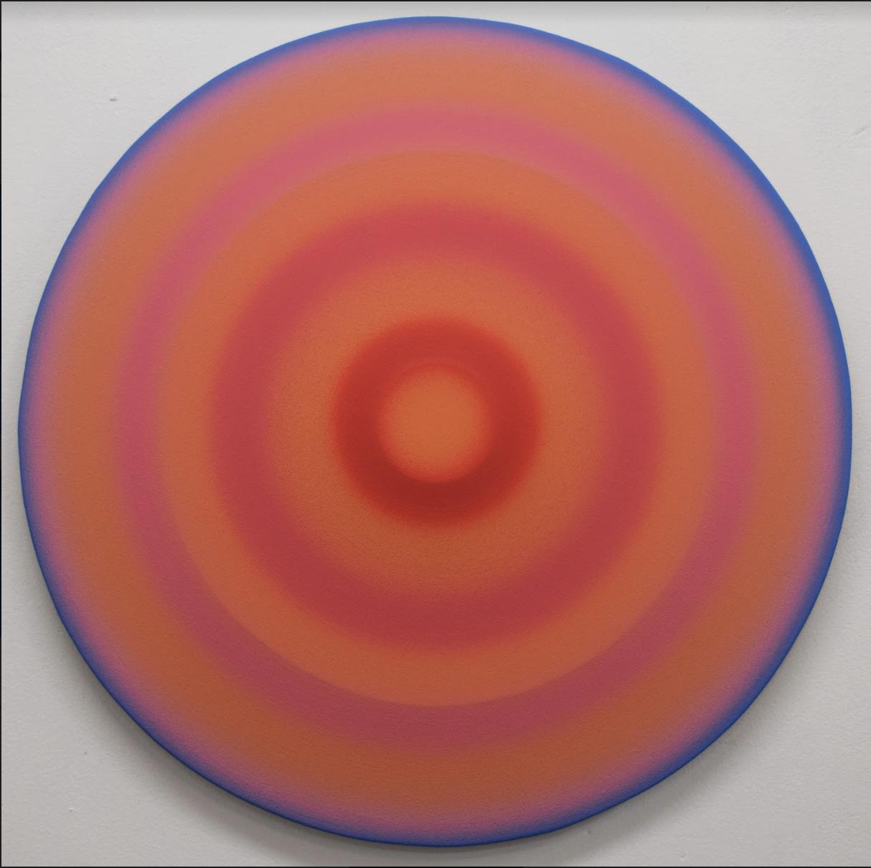Spin Painting (orange, pink, blue)