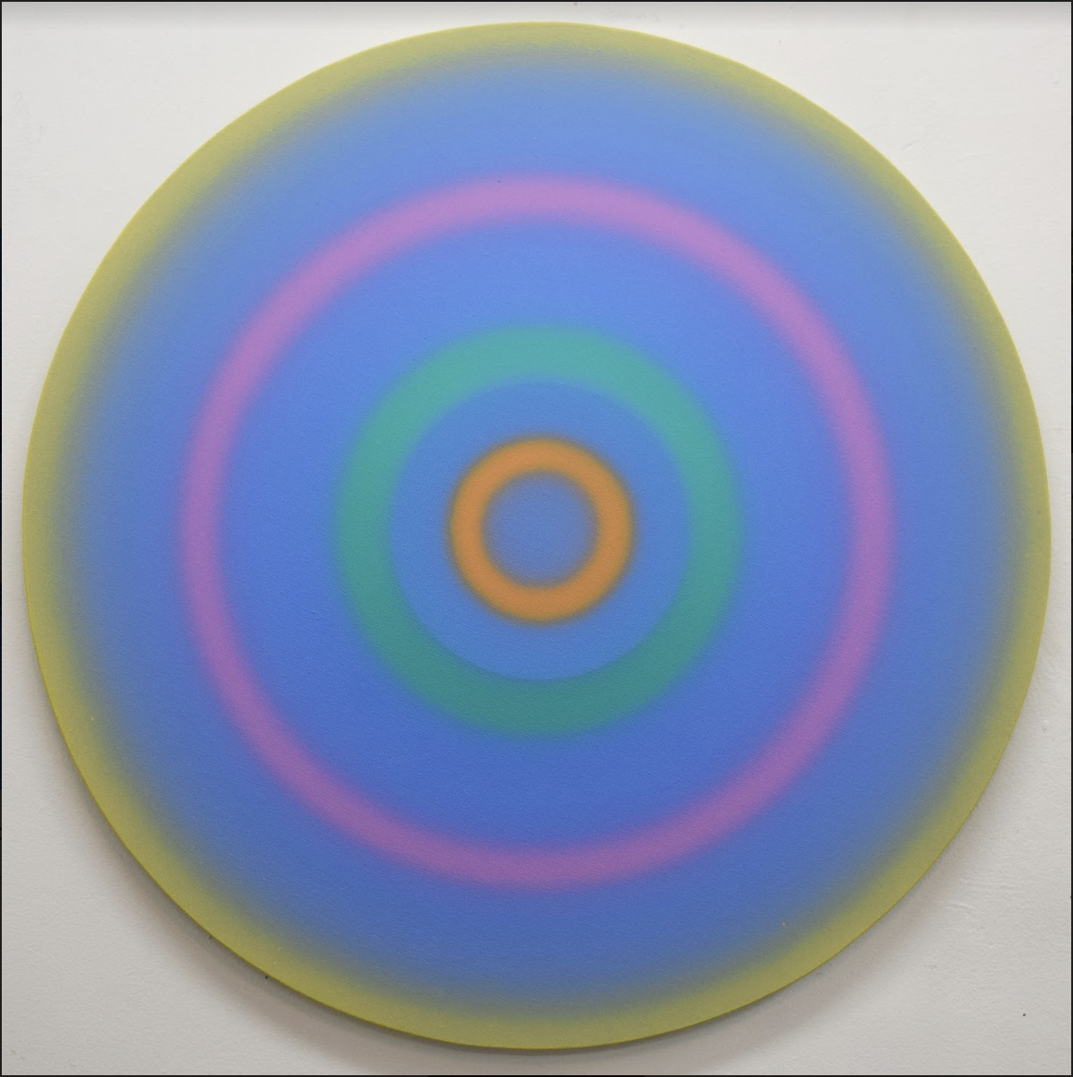 Spin Painting  (blue, yellow, pink, white, green)