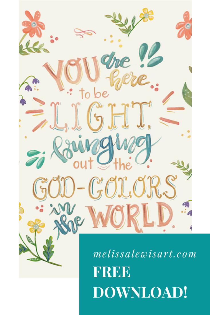 Free Scripture Download Print by Melissa Lewis on melissalewisart.com