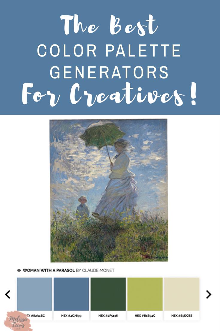 The Best Online Color Palette Generators For Creatives's by Melissa Lewis www.melissalewisart.com