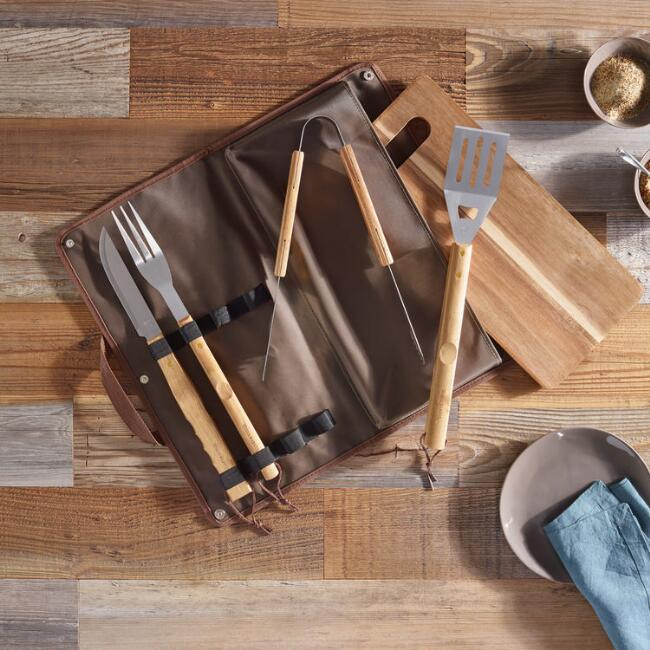 World Market Barbecue Tool 6 Piece Gift Set
