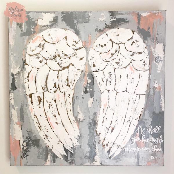 Angel Wings Painting by Melissa Lewis