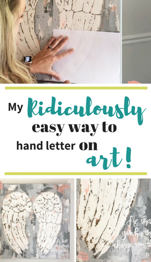 Ridiculously easy way to hand letter on art by Melissa Lewis