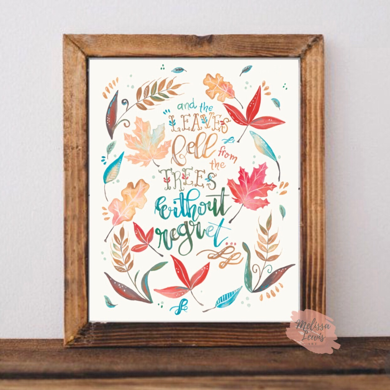 Free Melissa Lewis Art Fall Leaves Watercolor Print