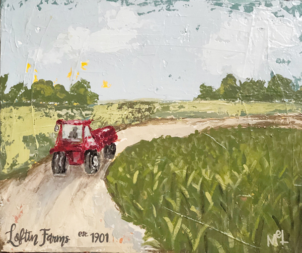 Melissa Lewis - Commissioned Farm Painting