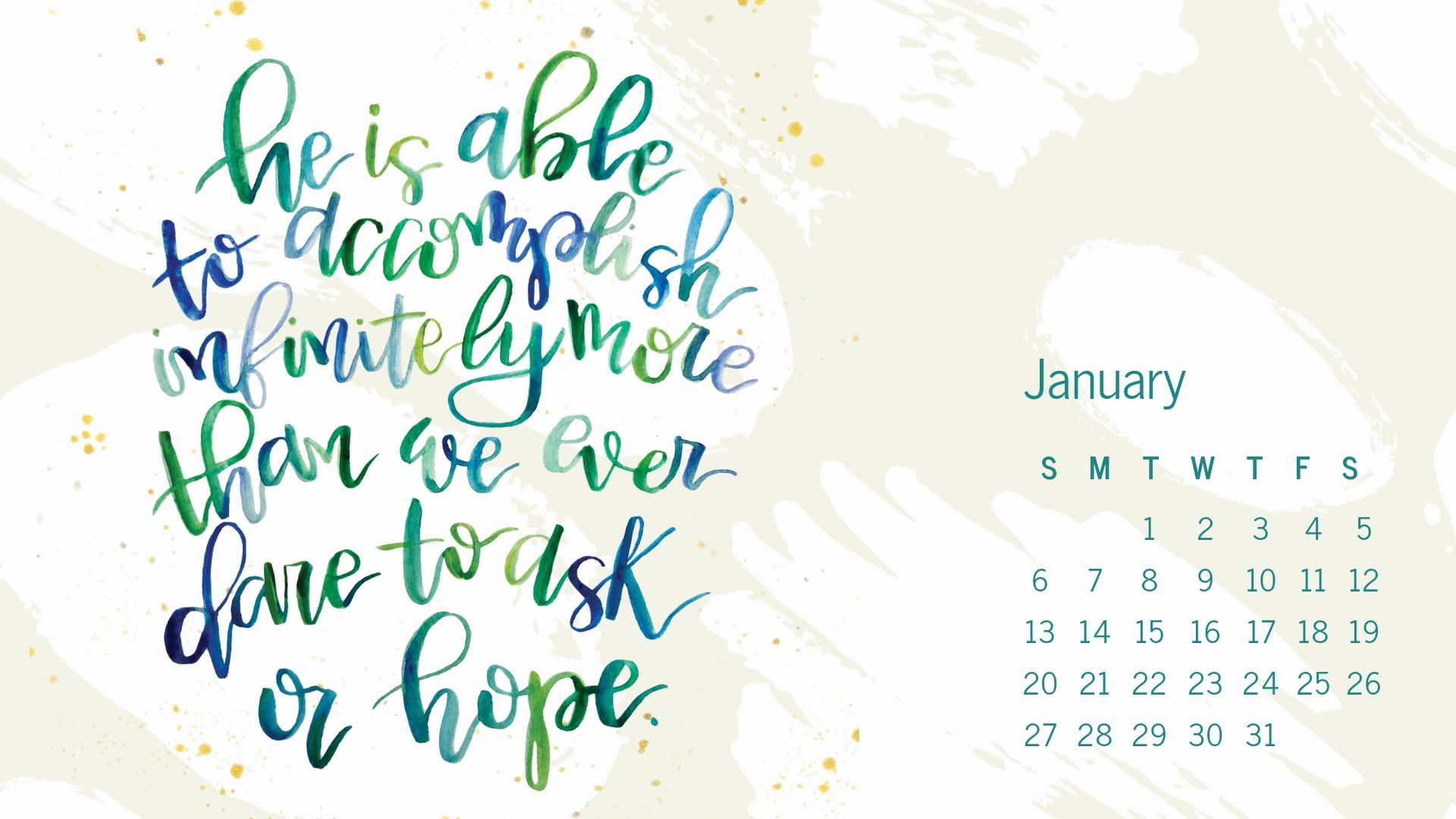 January 2019 Desktop Handlettered Scripture Wallpaper by Melissa Lewis Art