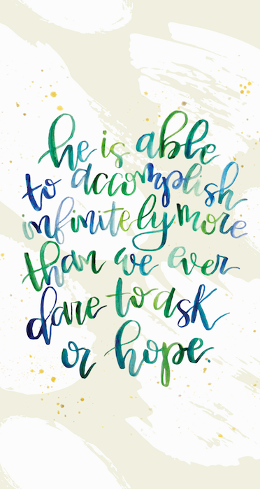 January 2019 iPhone Handlettered Scripture Wallpaper by Melissa Lewis Art