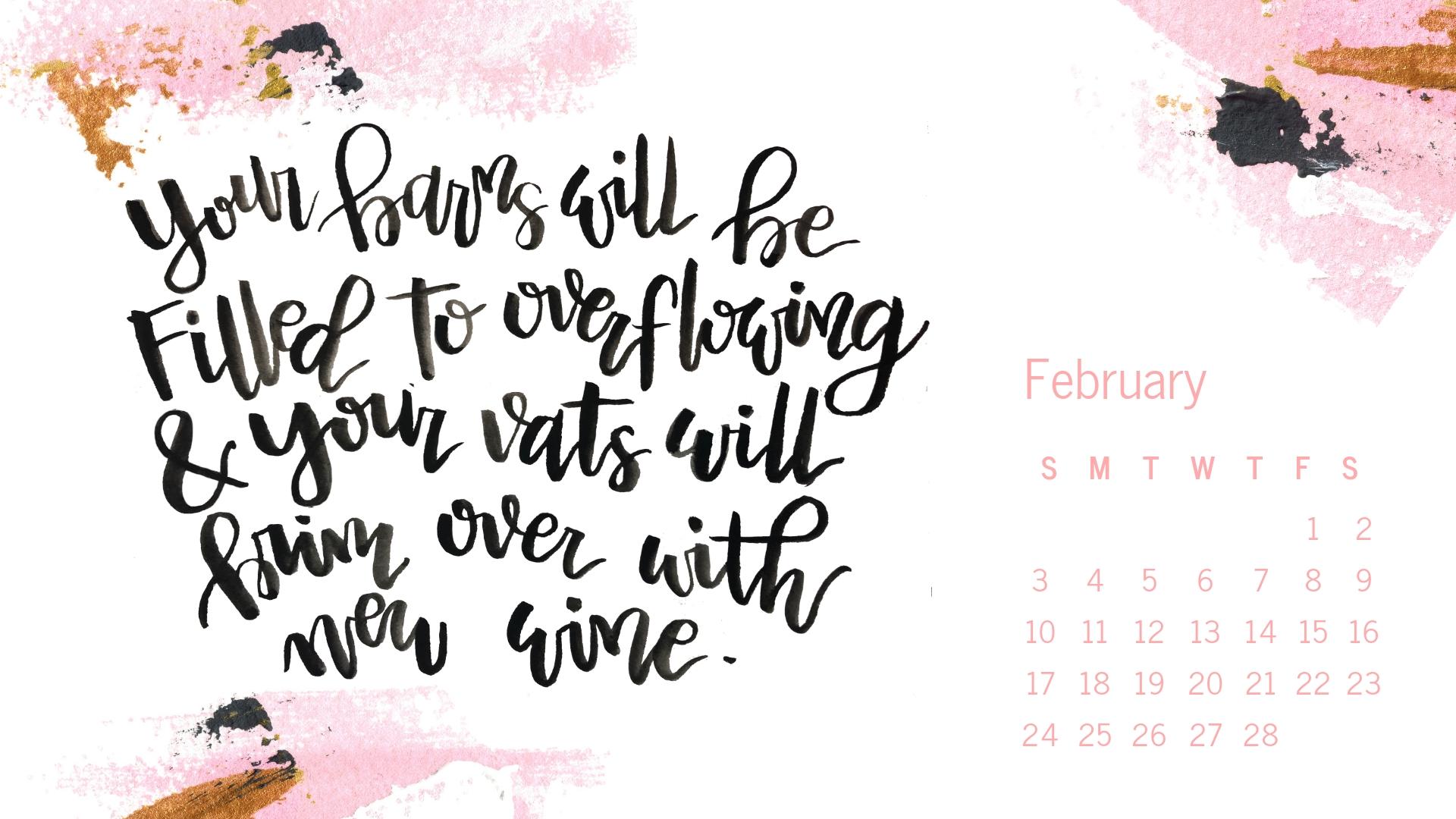February 2019 Handlettered Scripture Desktop Wallpaper by Melissa Lewis