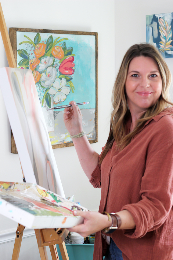 Melissa Lewis In the Art Studio