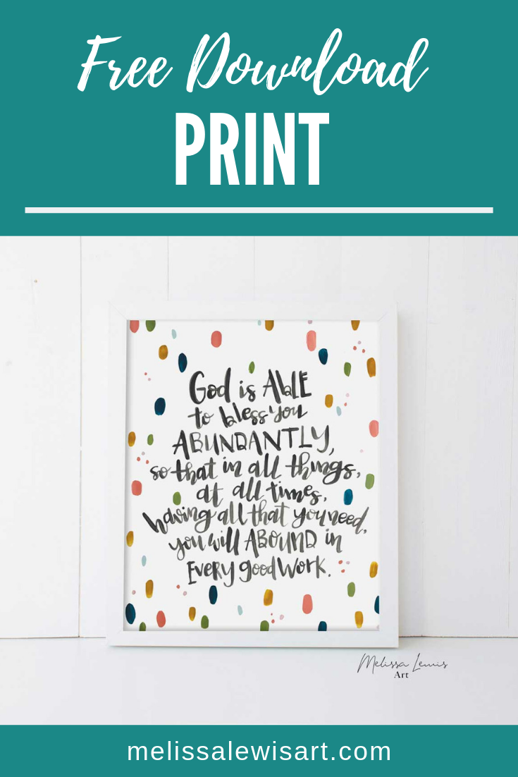 May 2019 Free Handlettered Scripture Print Download and Screensaver by artist Melissa Lewis