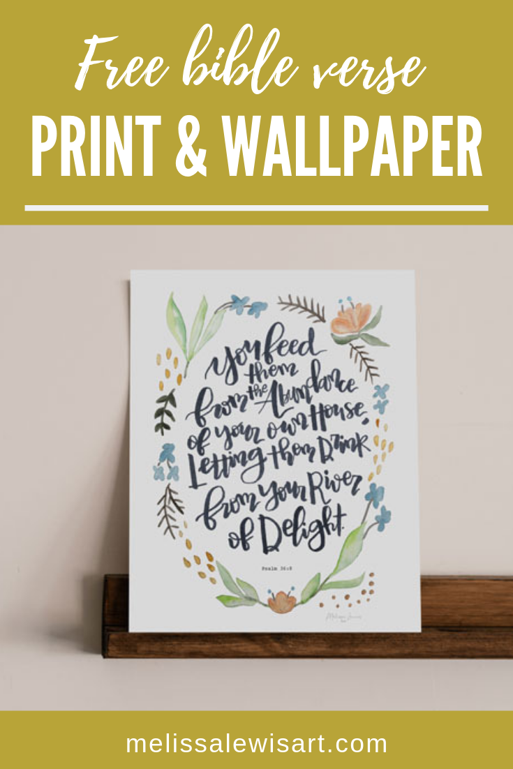 Free June 2019 Desktop & Mobile Wallpaper Bible Verse and Print by Melissa Lewis