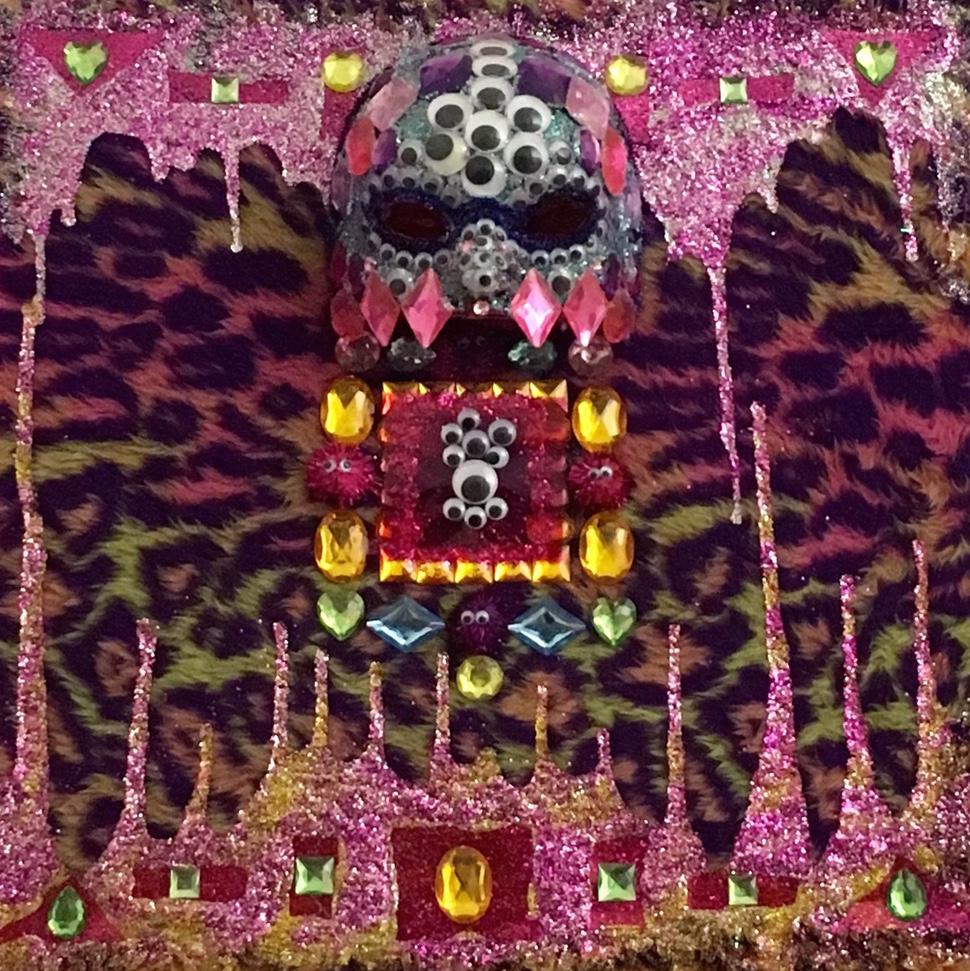 Rainbow Cheetah Glitter Monster by Madeline Franks | $200