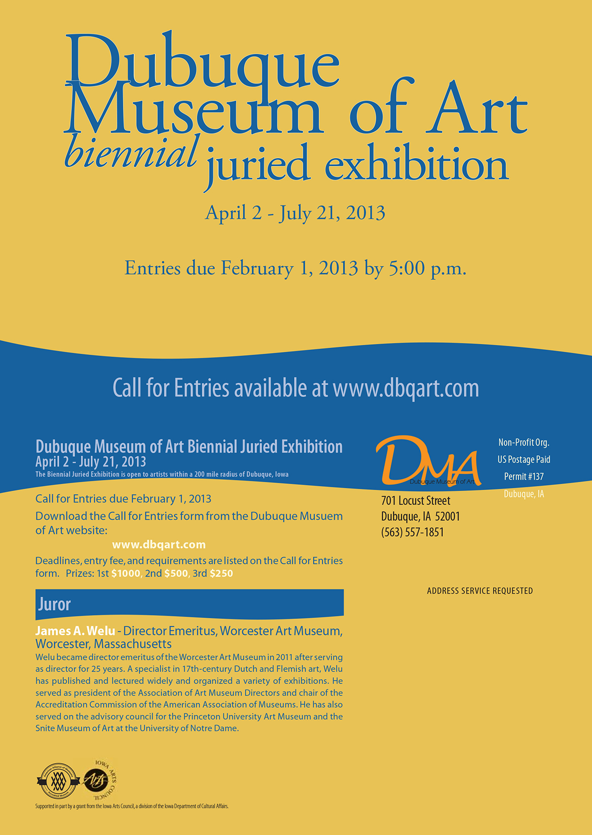 Dubuque Museum of Art:  Biennial Juried Exhibition