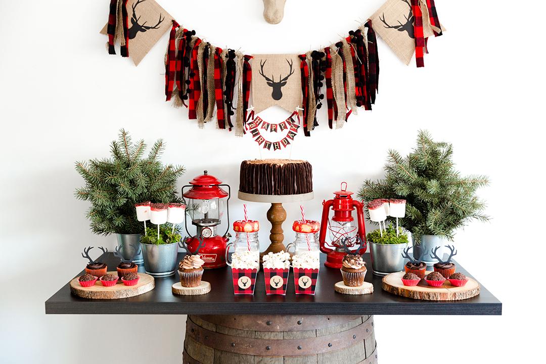 Plaid Lumberjack Birthday Party - Gallery