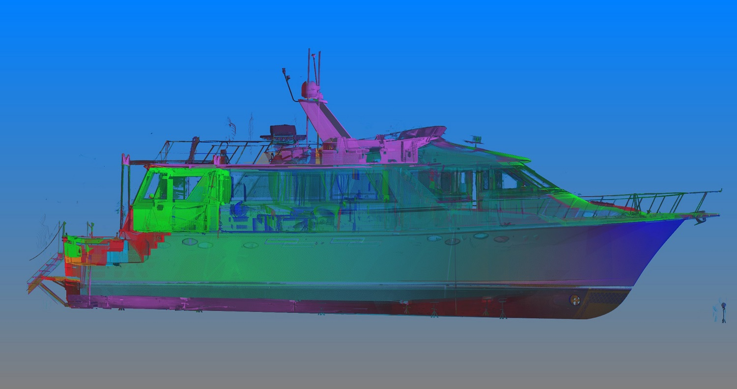Laser scan data of yacht