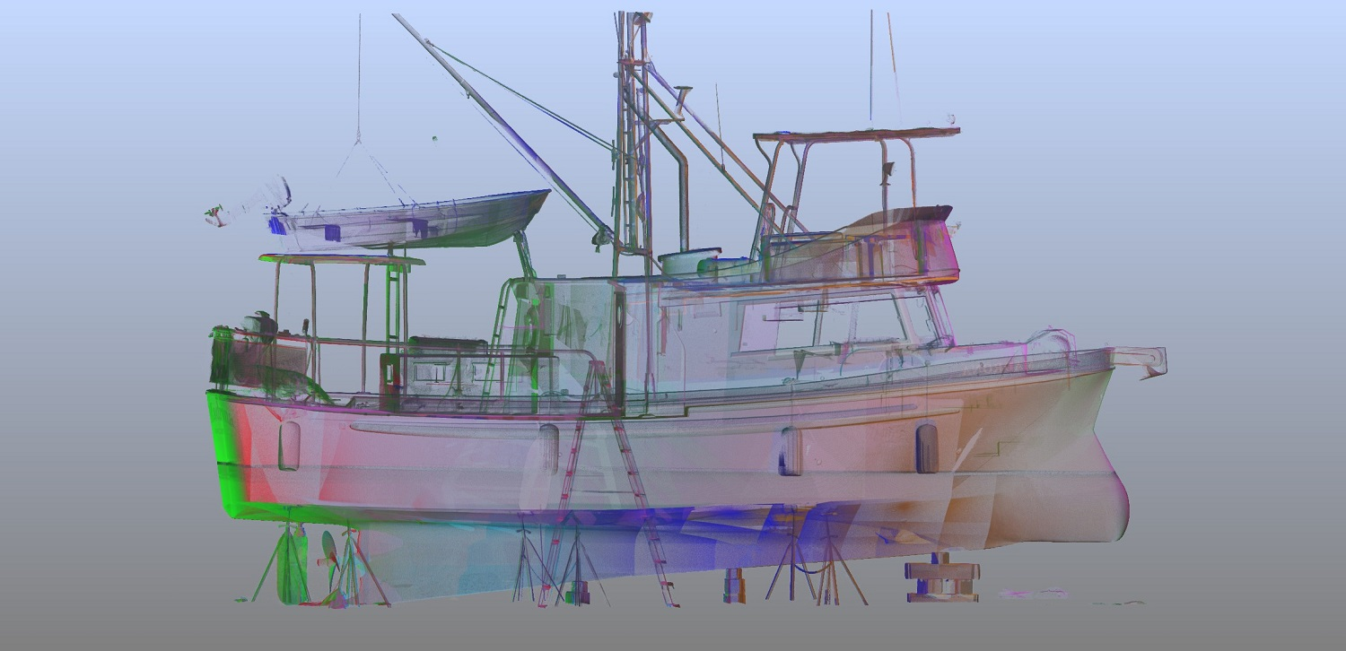 3D Point Cloud of Fishing Vessel