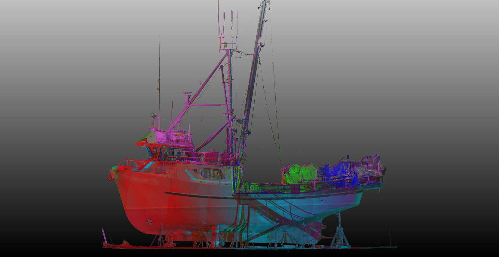 3D Laser Scan of Marine Vessel
