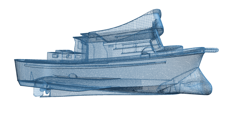 3D Mesh of Fishing Vessel