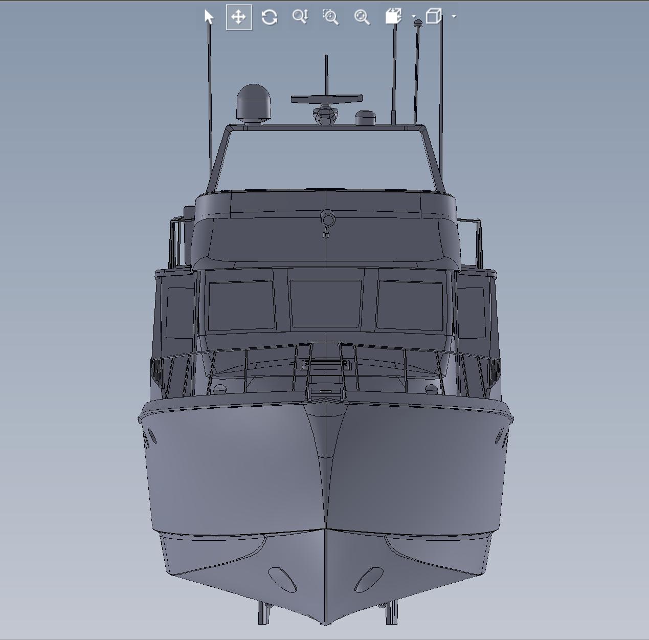 As Built 3D Model of Yacht