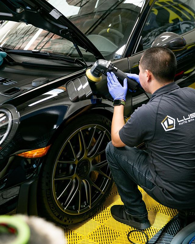 M A I N T A I N : Our skilled team works to help you maintain the paint & appearance of your ride. Stop by for paint corrections, details, and washes!