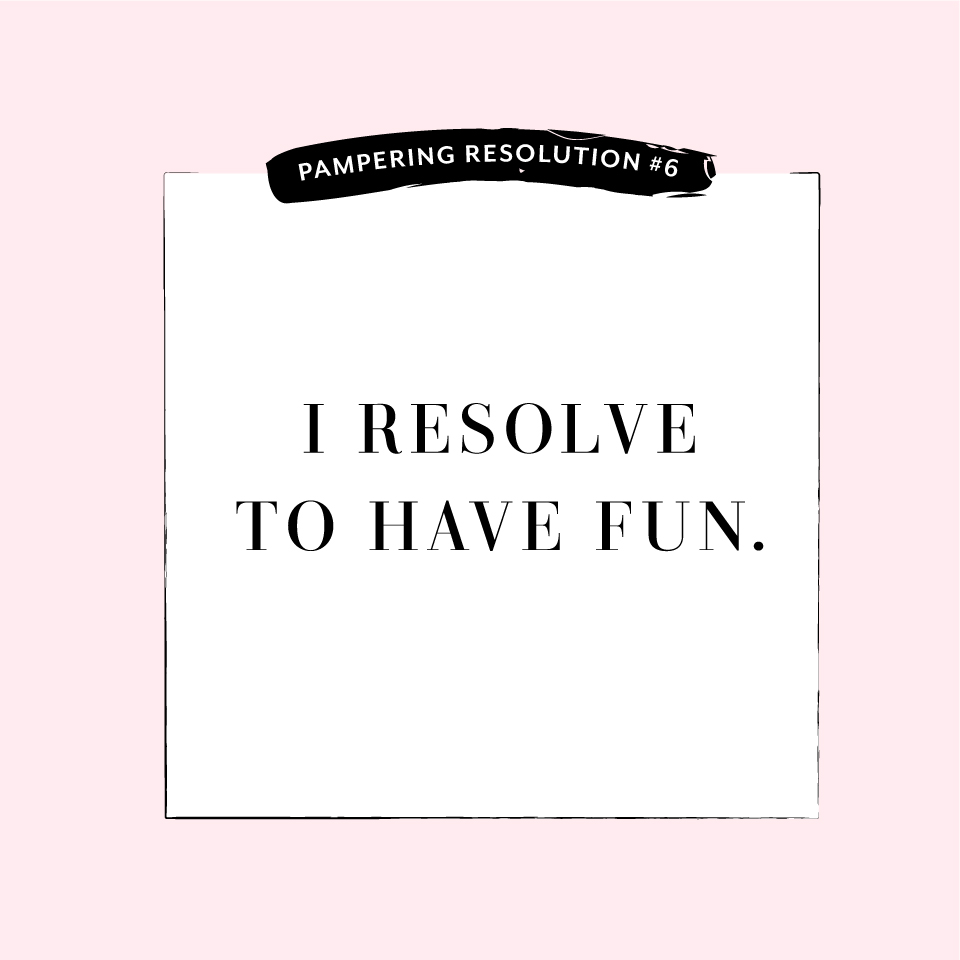 Perfectly Posh Pampering Resolution #6