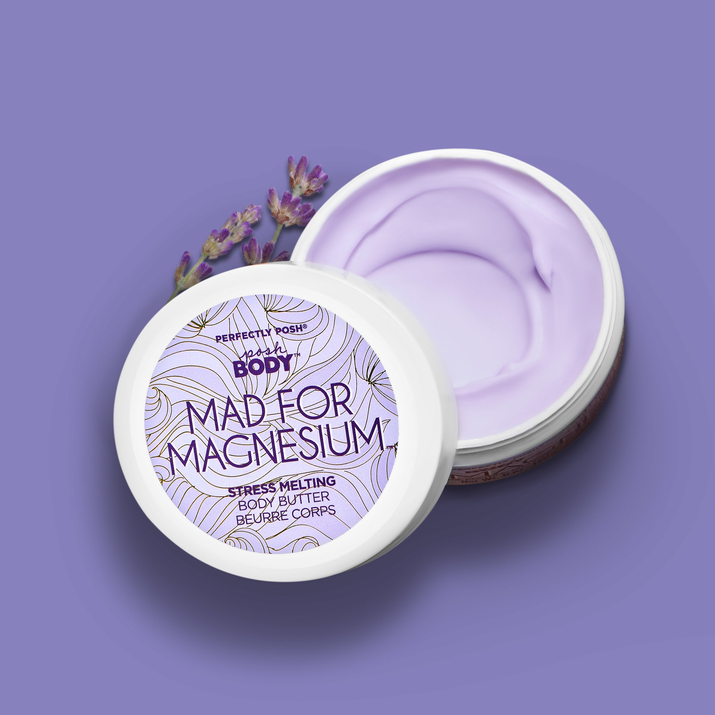 Perfectly Posh Mad for Magnesium Body Butter, magnesium skin care, magnesium chloride, soothing body butter, relaxing body butter, naturally based body butter, body butter for dry skin