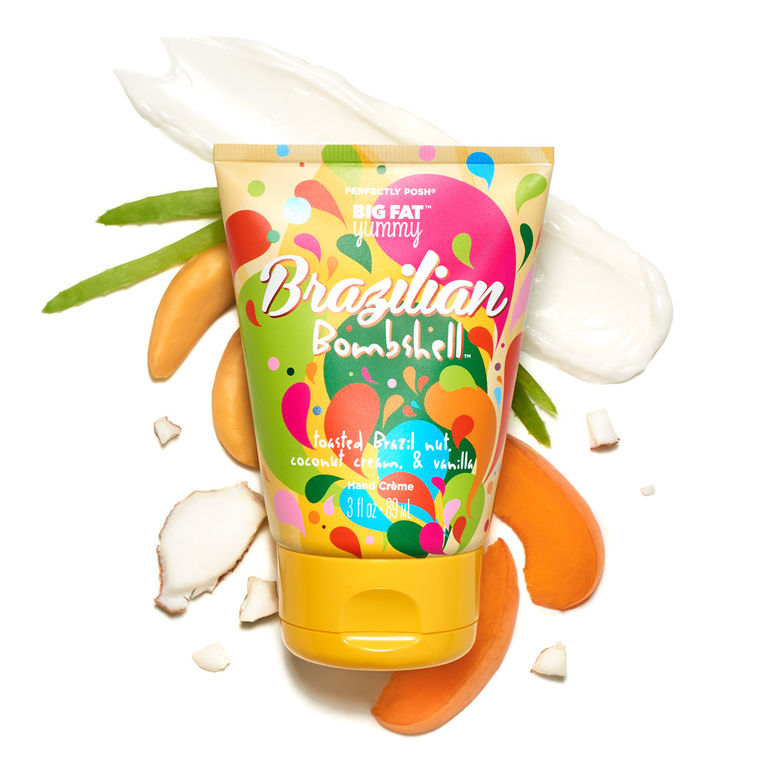 Perfectly Posh Brazilian Bombshell Big Fat Yummy Hand Cream for vegan skincare routine for body, vegan hand cream