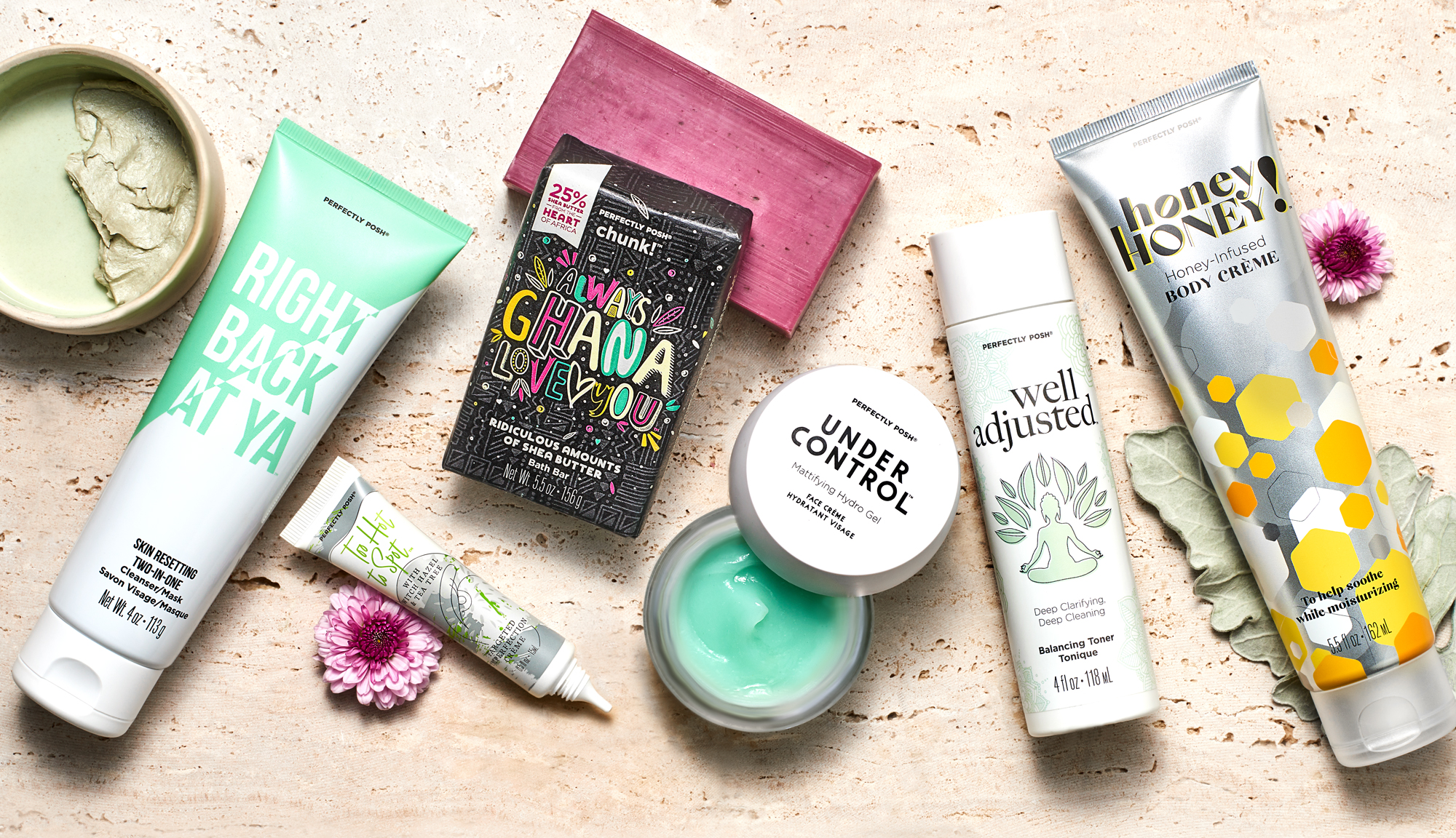 Perfectly Posh Buy 5 Get 1 Free promotion with code B5G1 on qualifying orders