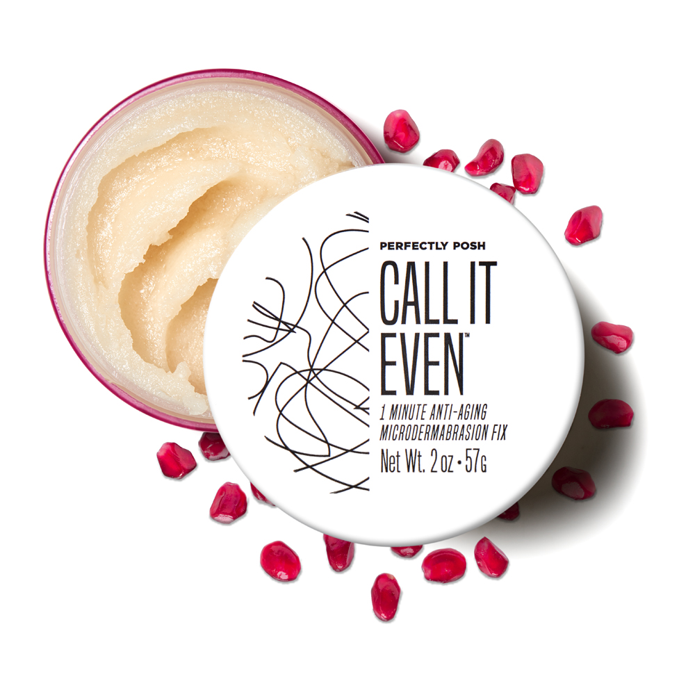 Perfectly Posh Call It Even 1 Minute Anti-Aging Microdermabrasion Fix face exfoliator with pomegranate seeds