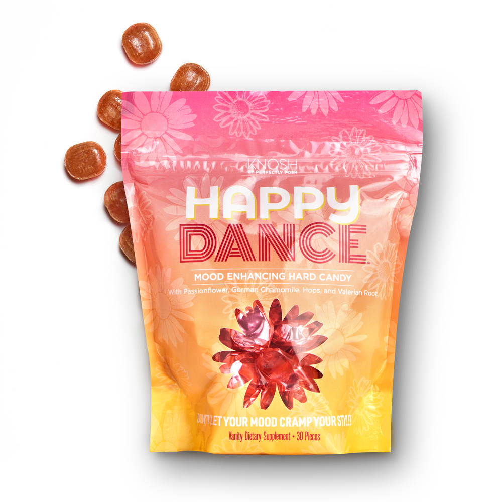 Perfectly Posh Happy Dance Mood Enhancing Hard Candy with valerian root and German chamomile