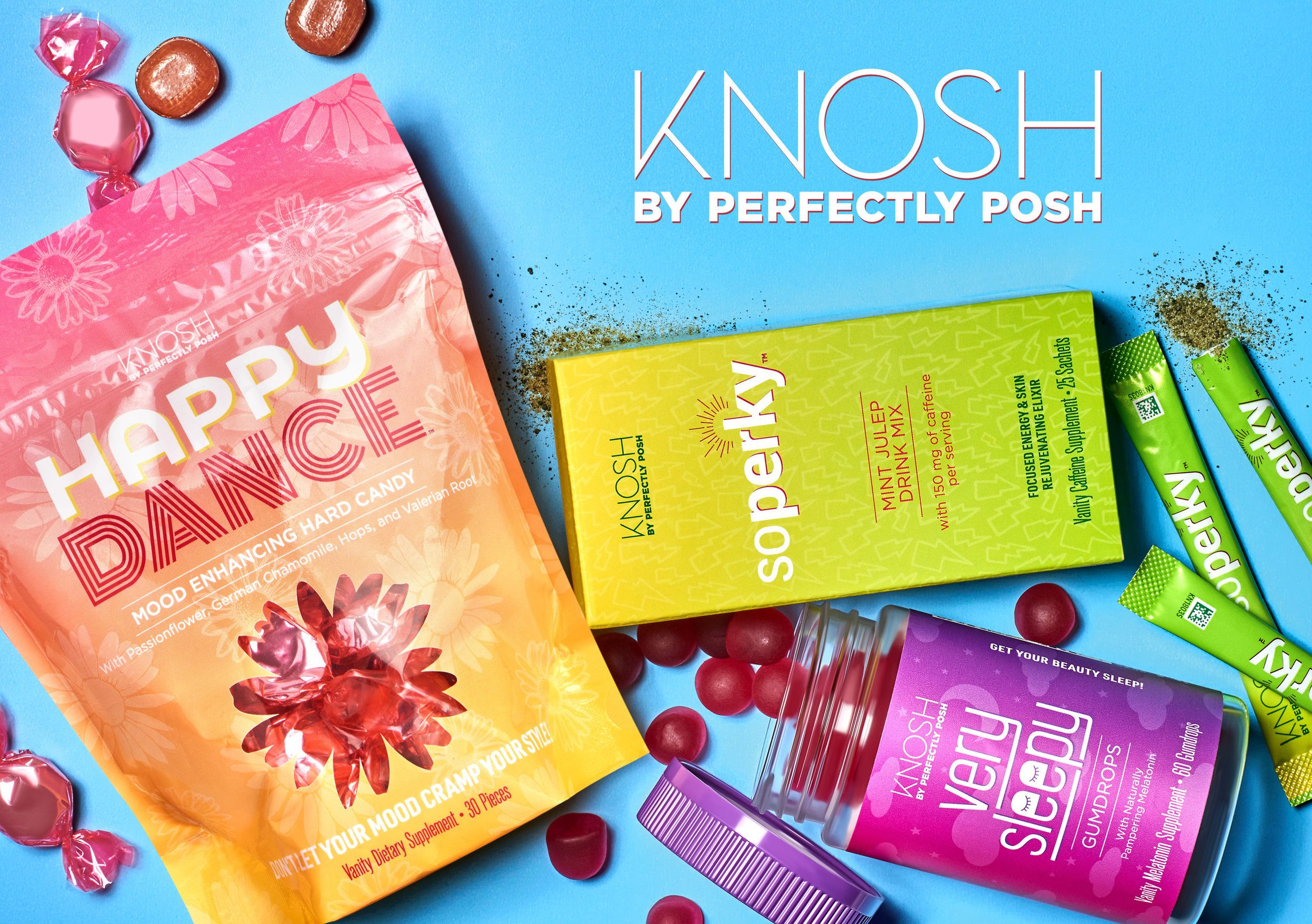 Perfectly Posh Knosh Vanity Supplement Line as featured on Cision PR Newswire