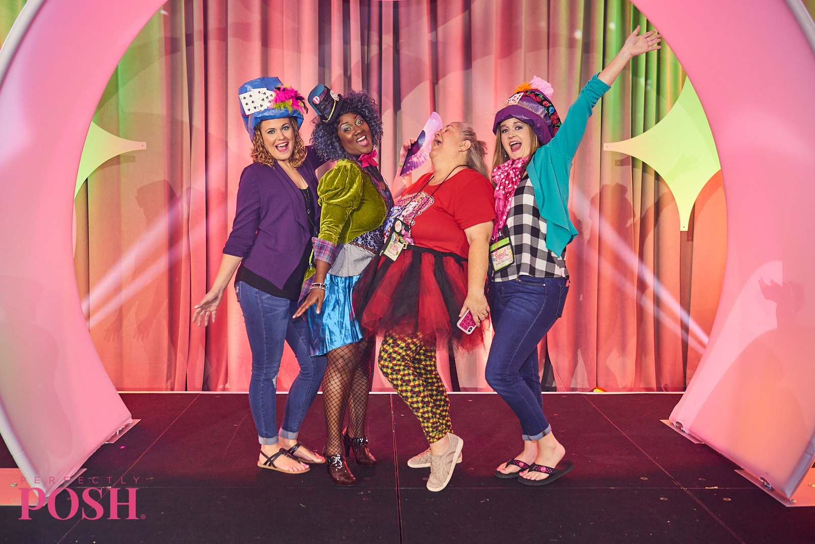 Perfectly Posh Influencers attending the Mad Hatter Tea Party at UnCon 2019 in Indianapolis