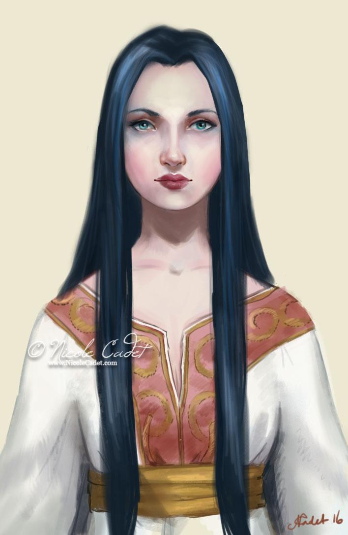Zayva - Personal loose portrait - fantasy medieval woman