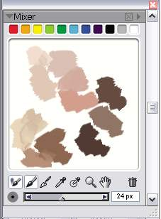 My colour palette - I tend to try an paint with less grey tones and more vibrant tones