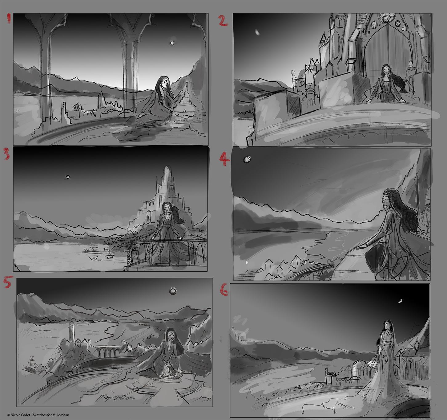 Sentinel Thumbnail sketches