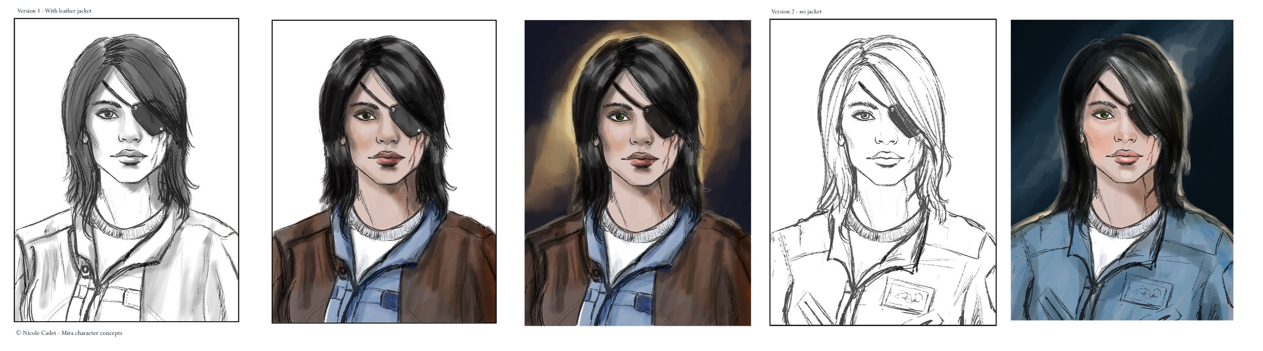 Sketch and colour concepts for Mira