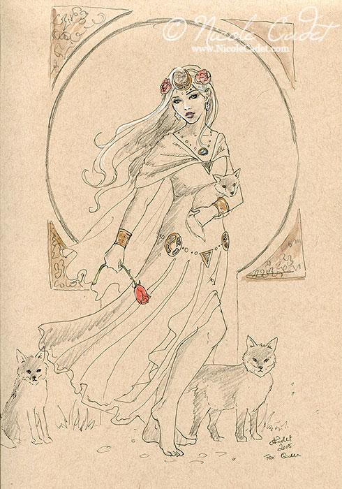 Queen of foxes sketch