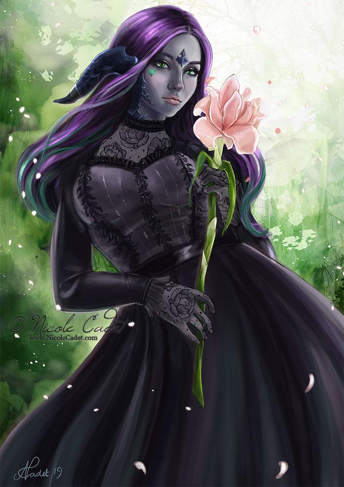 Zaya - an Au'Ra, a fantasy creature from Final Fantasy 14 online