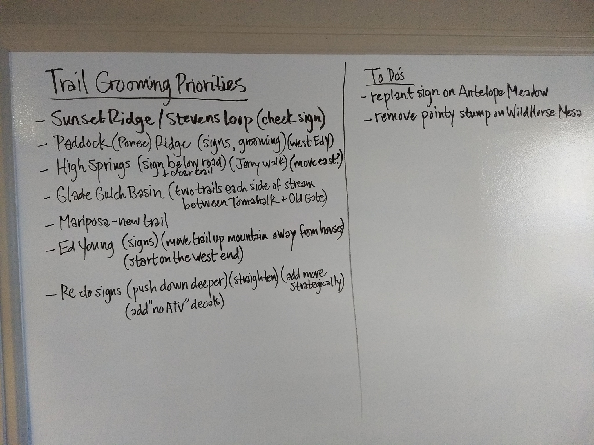 Here is our white board summary showing the key projects and tasks we have left to do this summer. Writing down a checklist especially appeals to those of us with a green/structural preference. As a team, prioritized lists keep us focused and united on what we need to accomplish.