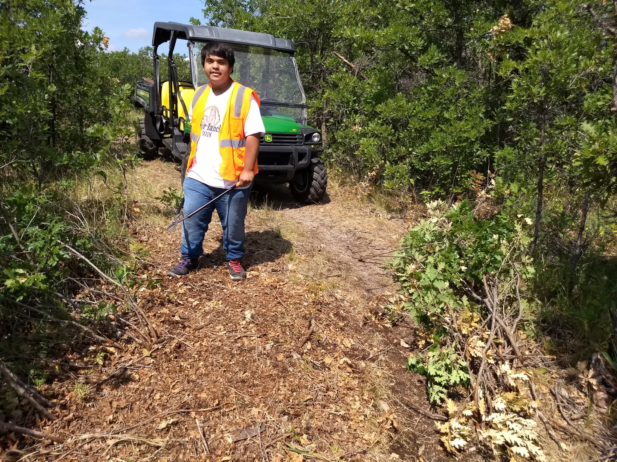 Jose groomed some of trails during inspection so the teams wouldn't have to come back to do it themselves!